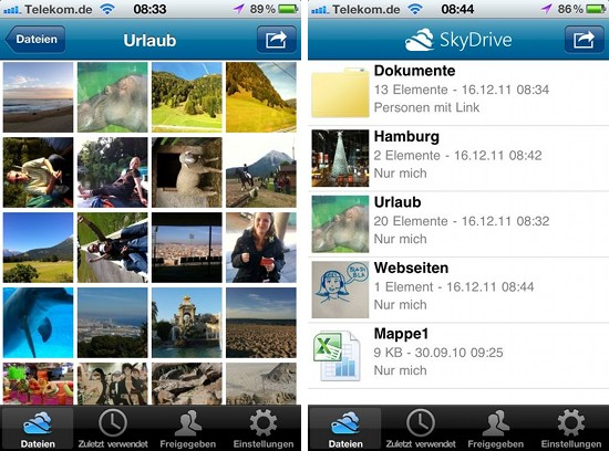 Fotos und andere Dateien im Skydrive von Microsoft speichern
