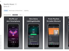 Spotify im App-Store Druckmittel Musik Streaming