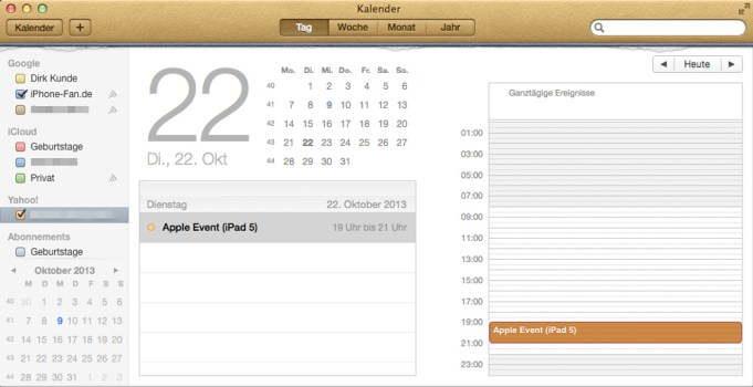 Wahrscheinlicher iPad 5-Ankündigungstermin: 22.10.2013