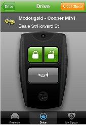 Auto mit der App finden und aufschließen © Zipcar
