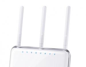 WLAN-Tuning: Um die Signalstärke und damit das Tempo von WLAN-Routern zu optimieren, experimentieren Sie mit der Ausrichtung der Antennen. (Foto: TL-Link)