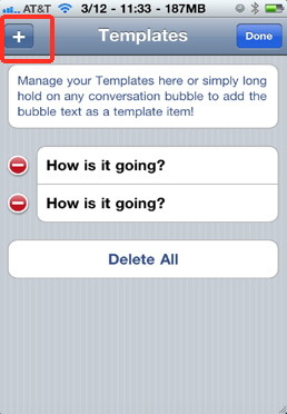 Iphone Text Templates  blank bubble message bubble  iphone