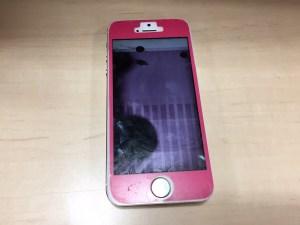 iPhone5sフロントパネル修理前