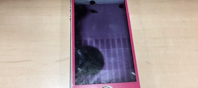 本日のアイフォン修理は、 『踏みつけてしまった』札幌市西区よりiPhone5sフロントパネル交換修理