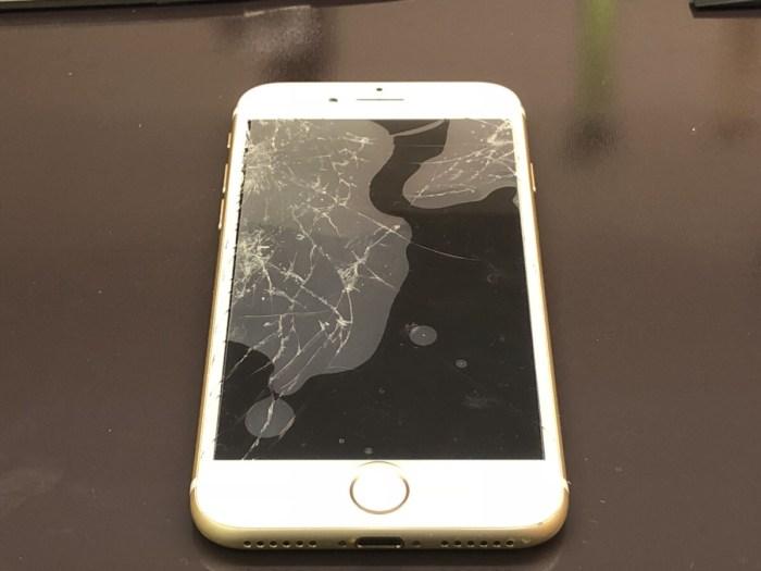 iphone7 パネル 液晶 画面 割れ