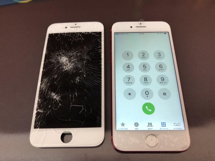 iphone 画面 液晶 ガラス 割れ 交換 修理 恵庭