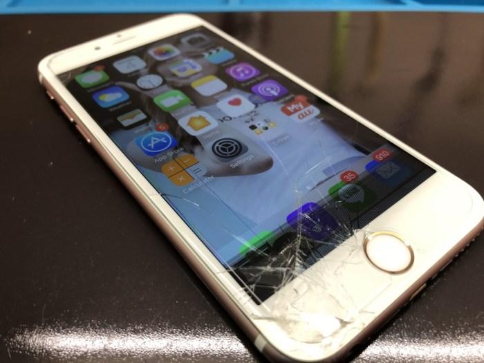 iPhone 画面 割れ ガラス 修理 恵庭