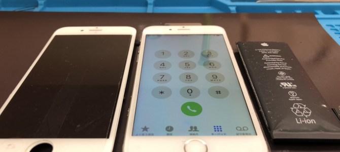 iPhone(アイフォン)6の液晶画面とバッテリー交換ならアイフォンクリア恵庭店へ