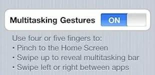 Multitasking gestures