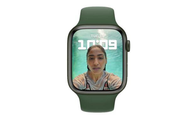 Apple Watch face in portrait mode