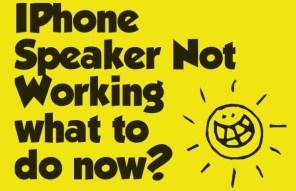 Iphone speaker not working