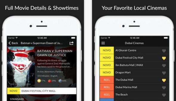 Intuitive Cinema App – UAE Cinema Showtime | | iPhoneGlance