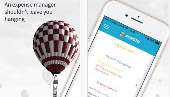 app review adnoto expense manager iphoneglance
