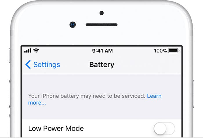 iOS Battery Replacement Notice