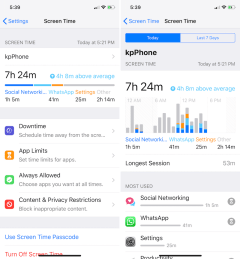 iOS 12 Screen Time Stats