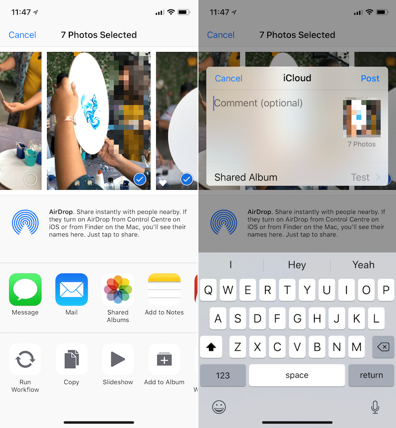 iOS 12 Smart Suggestions Photo Sharing 4