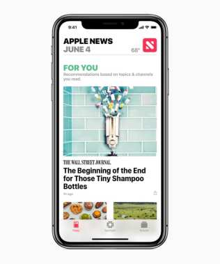Redesigned Apple News App in iOS 12.