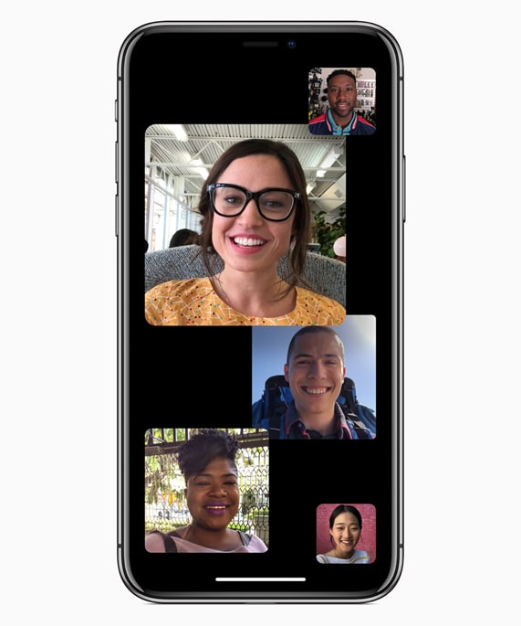 Group FaceTime calls in iOS 12.