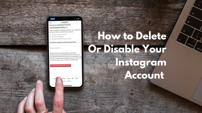 How To Delete Or Temporarily Disable Instagram Account