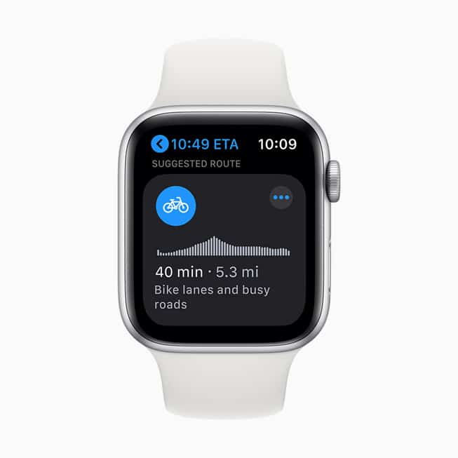 Apple watchOS 7 Cycling Directions