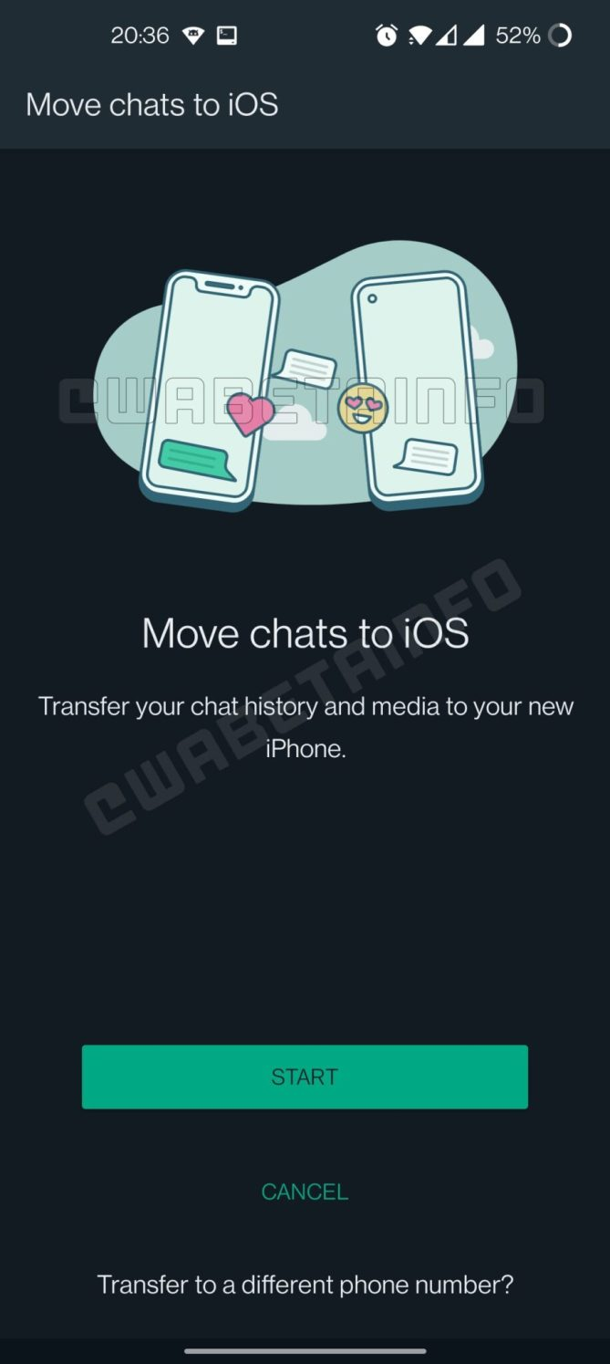 wahtsapp Android to iOS