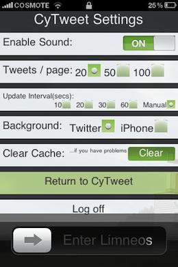 CyTweet Cydia Twitter Cydget