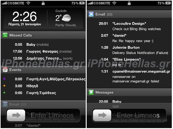 Element iPhone Lockscreen Cydget Under-construction Screenshots