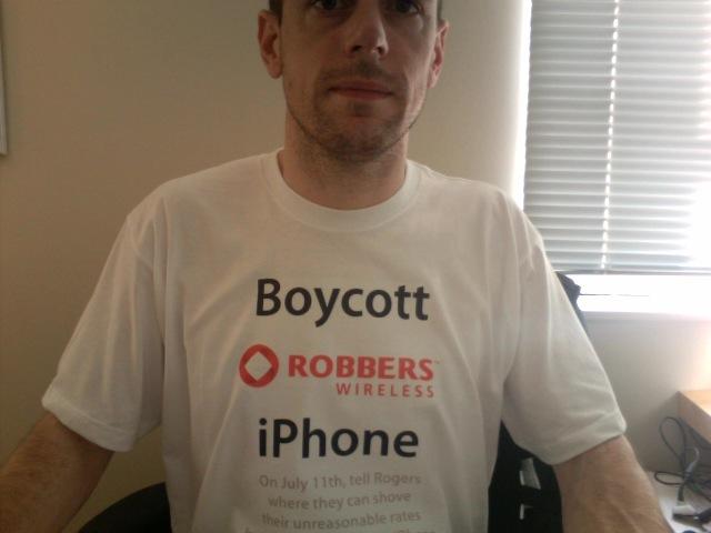 Boycott Rogers iPhone T-shirt