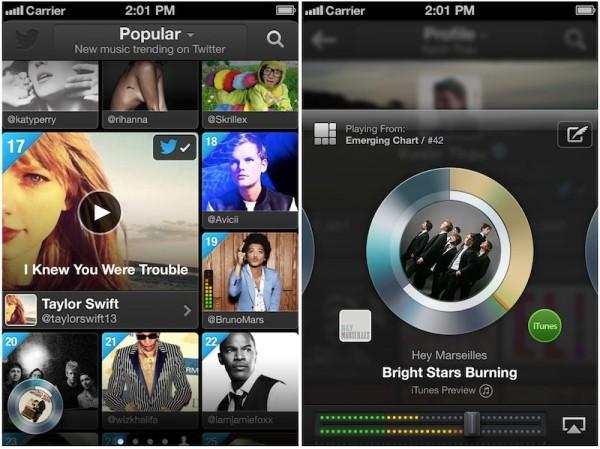 Twitter lança novo serviço de música para iOS e web