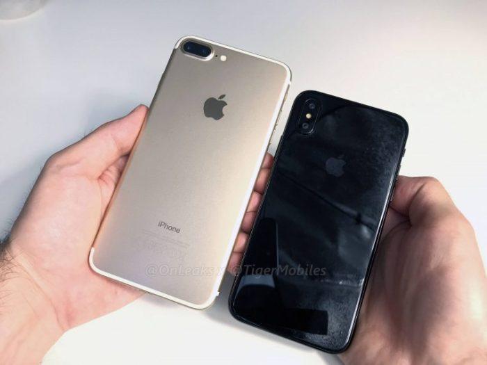 Макет iPhone 8 вновь показали рядом с iPhone 7 и 7 Plus