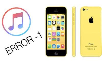 Error -1 en iTunes en iPhone 5S y 5C