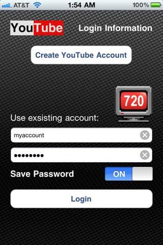 720 Tube applicazione iphone 4