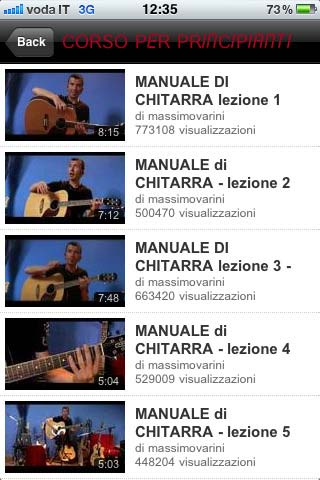 MaxVarini app iphone 4 chitarra