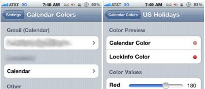 cambiare colori calendari iPhone
