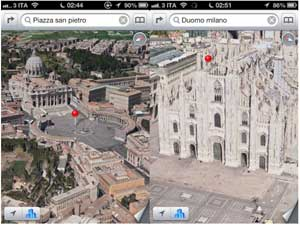 iOS 6 Mappe 3D