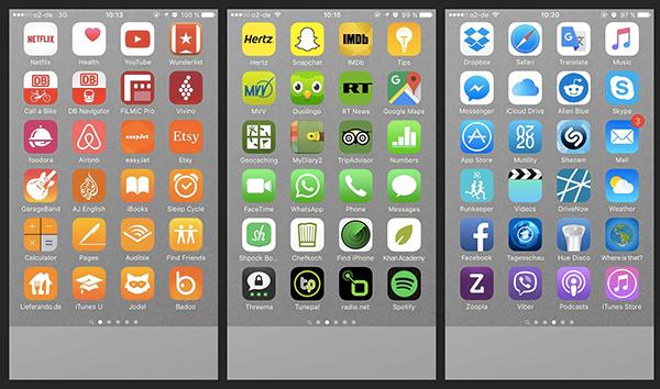 Classement applications smartphone par couleur
