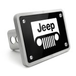 Jeep Grill Uv Graphic Black Billet Aluminum 2 Inch Tow Hitch Cover Jeep Hitch Covers