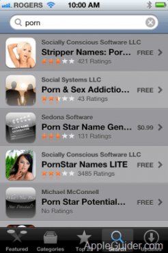 iOS App Store purchase history brings all your porn home to roost?
