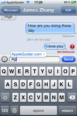 Text Shortcuts in iOS 5