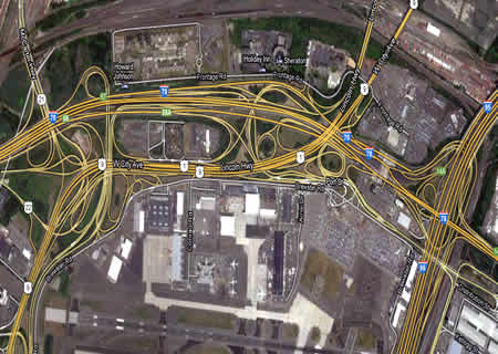 Example of Complexity; Roads from Google Earth