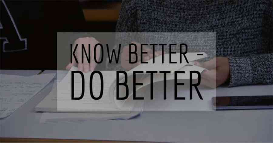 Know Better – Do Better 2