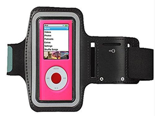 7e86ffe12 cfzc brazalete, para Apple iPod Nano 4th 5th Gen de MP3 o reproductor de  mp3 Correr/Running Ejercicio Gimnasio brazalete con ranuras para Dual  arm-size y ...