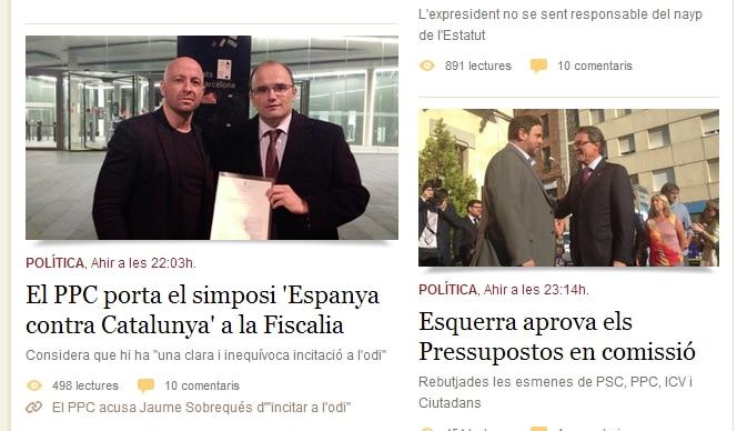 e-noticies España contra Cataluña