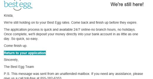 bestegg behavioral email example