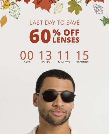 frames direct email offer with countdown timer example