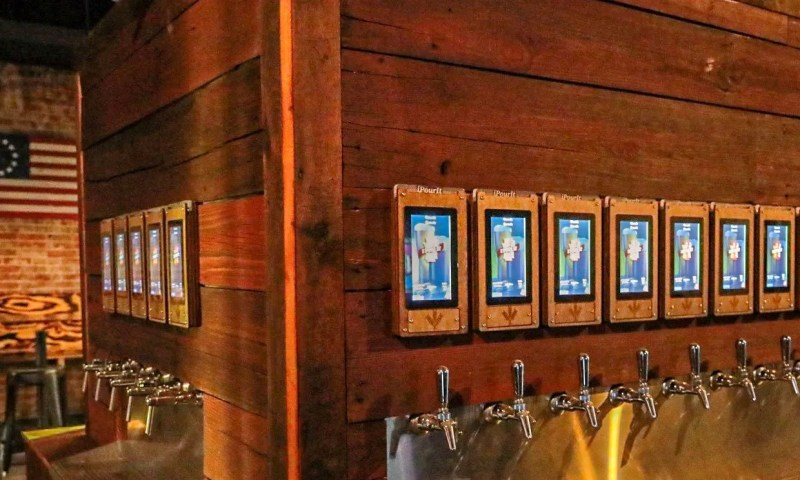 self-pour taps old towne beer hall