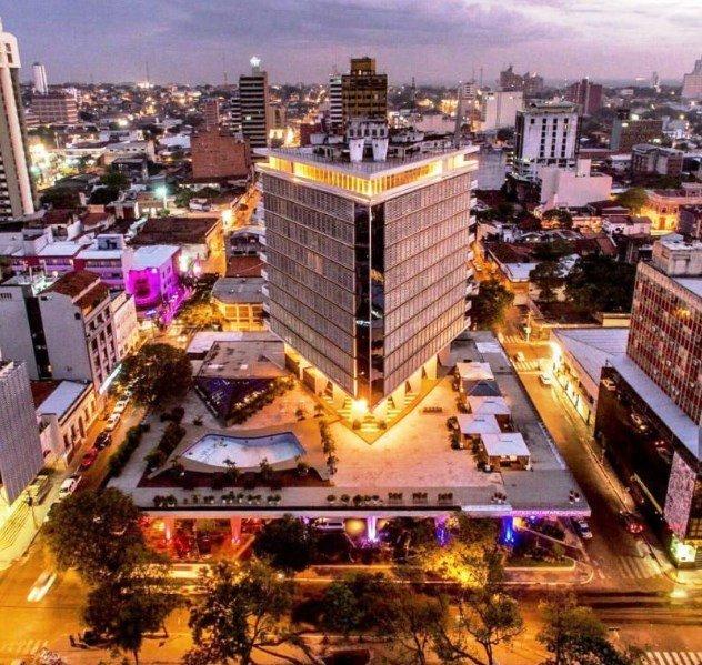 Vista desde arriba Edificios de Asunción - Hotel Guaraní