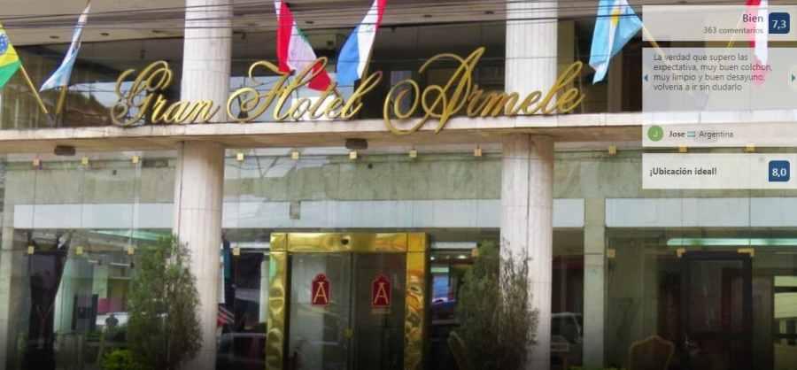 Hoteles en Paraguay Gran hotel Armele fachada