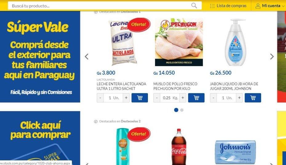 Delivery de Supermercados Stock