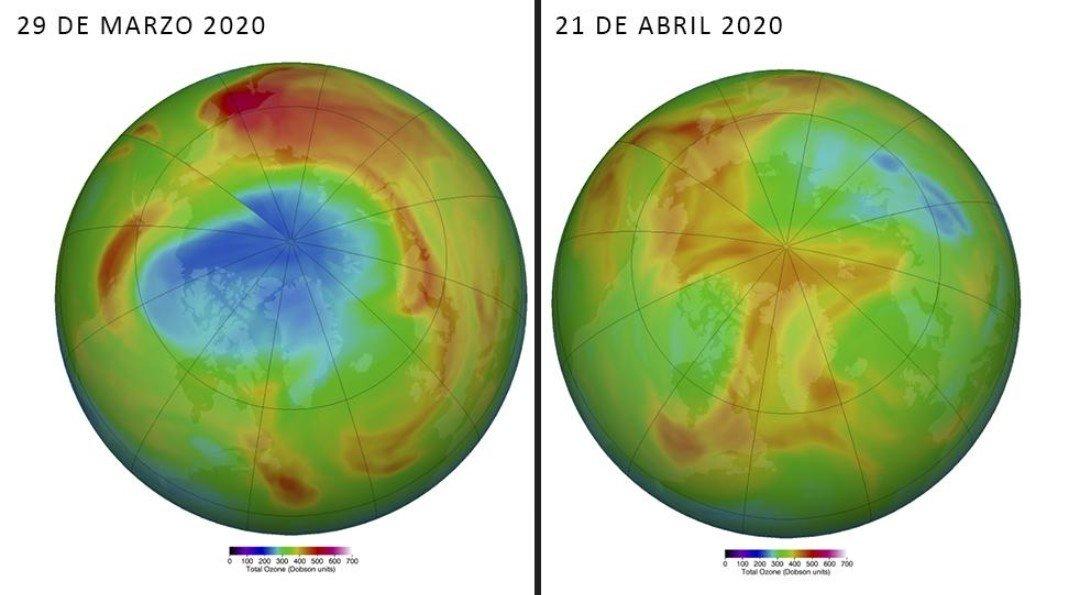 La capa de ozono continúa sanándose